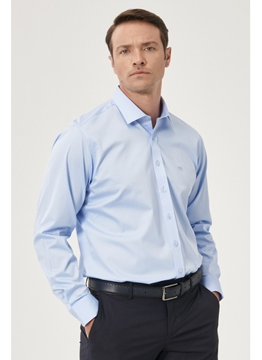 Beymen Business 4B2000000103 Regular Fit Gömlek Saten Mavi